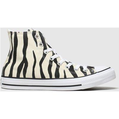 Converse Black & White All Star Zebra Print Hi Trainers