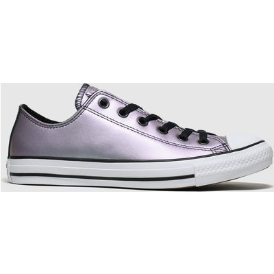 Converse Purple All Star Ox Iridescent Trainers