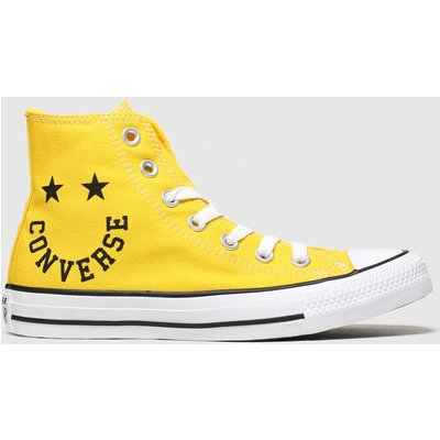 Converse Yellow Hi Smile Trainers