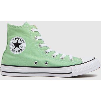 Converse Light Green All Star Hi Trainers