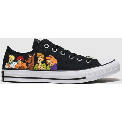 Converse Black & White All Star Ox Mystery Inc Trainers