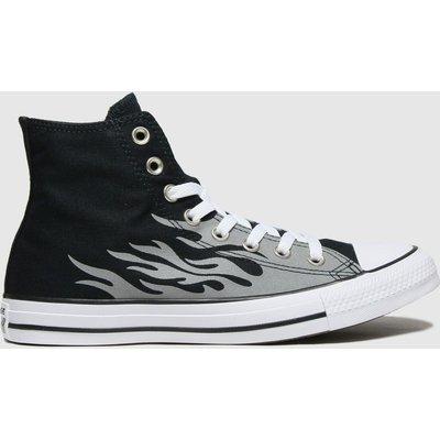 Converse Black & Grey Reflective Flame Hi Trainers