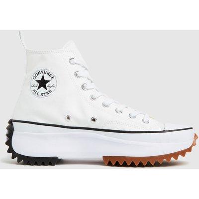 Converse White & Black Run Star Hike Hi Trainers