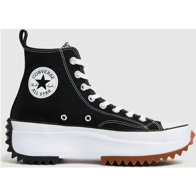 Converse Black & White Run Star Hike Hi Trainers