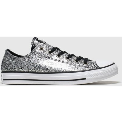 Converse Black & Silver Chunky Glitter Ox Trainers