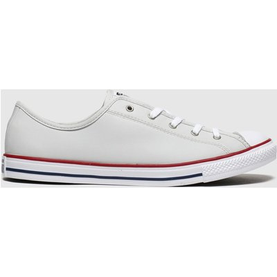 Converse Light Grey Dainty Gs Trainers