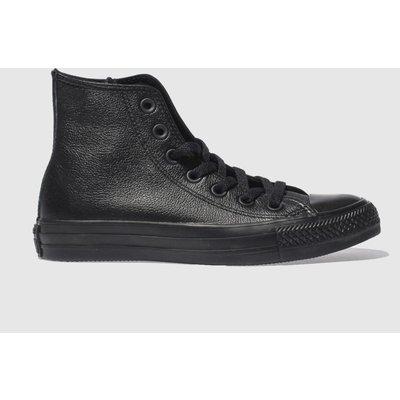 Converse Black Hi Leather Mono Trainers