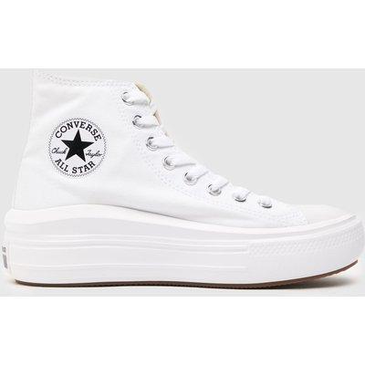 Converse White Cons Ctas Move Platform Hi Trainers