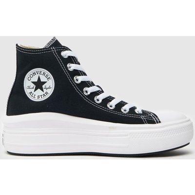 Converse Black & White Move Platform Hi Trainers