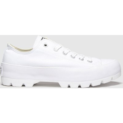 Converse White All Star Lugged Ox Trainers