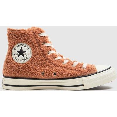 Converse Orange All Star Cosy Hi Trainers