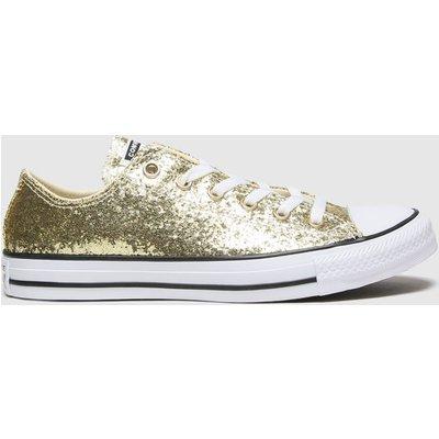 Converse Gold Ox Glitter Trainers
