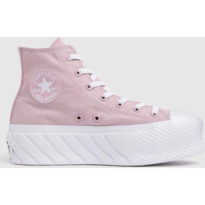 Converse Pale Pink Lift X2 Hi Trainers