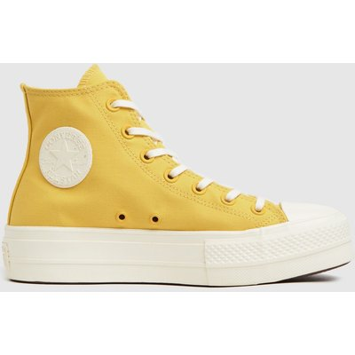 Converse Yellow Mix Recycled Lift Hi Trainers