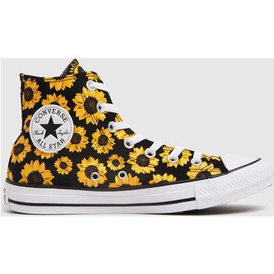 Converse Multi Sunflower Hi Trainers