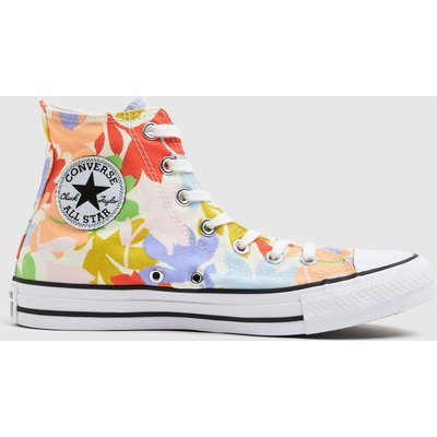 Converse Purple & Pink Star Garden Party Trainers
