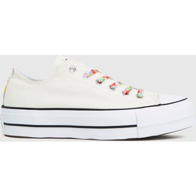 Converse Stone Star Garden Party Lift Ox Trainers