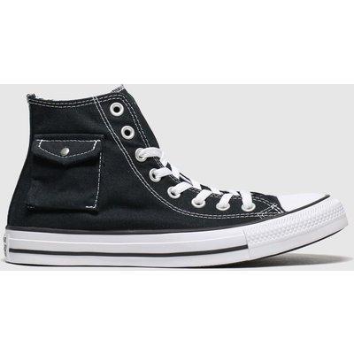 Converse Black & White Hi Pocket Trainers