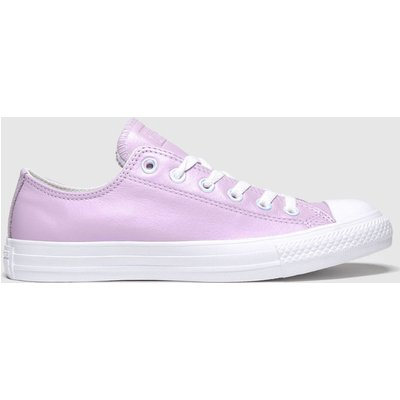 Converse White & Pink All Star Summer Iridescent Ox Trainers