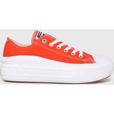 Converse Orange Move Platform Ox Trainers