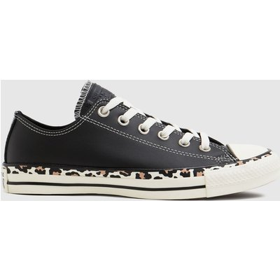 Converse Black Archive Edged Leopard Ox Trainers