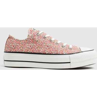 Converse Pink Lift Floral Ox Trainers