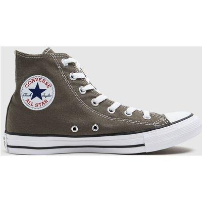 Converse Grey Chuck Taylor All Star Hi Trainers