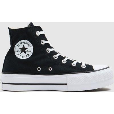 Converse Black Chuck Taylor All Star Lift Hi Trainers
