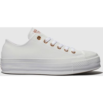Converse White All Star Clean Lift Trainers