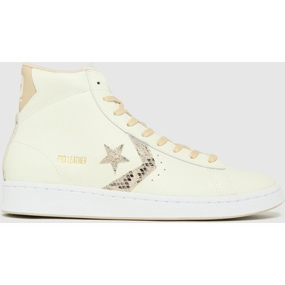 Converse White Pro Leather Snake Hi Trainers