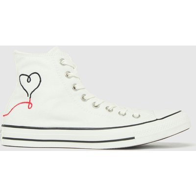 Converse White & Black Love Thread Hi Trainers