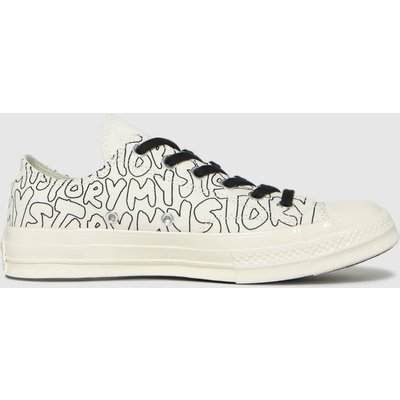 Converse Black & White Chuck 70 My Story Ox Trainers