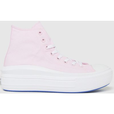 Converse Pale Pink All Star Metals Move Hi Trainers