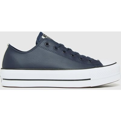 Converse Navy Lift Ox Trainers
