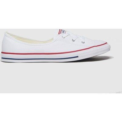 Converse White Ballet Lace Slip Trainers