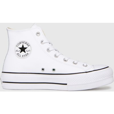 Converse White Cons Lift Hi Leather Trainers