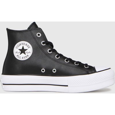 Converse Black Lift Hi Leather Trainers