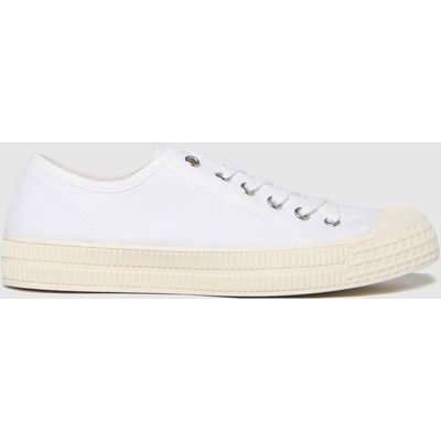 Schuh White Magnolia Canvas Lace Up Trainers