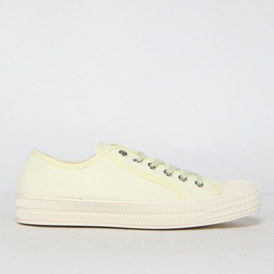 Schuh Yellow Magnolia Canvas Lace Up Trainers