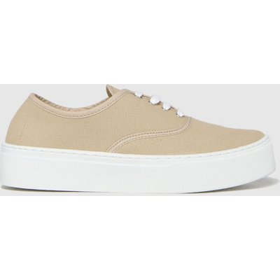 Schuh Natural Miracle Canvas Flatform Lace Trainers