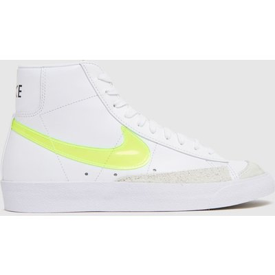 Nike White & Yellow Blazer Mid 77 Ess Trainers