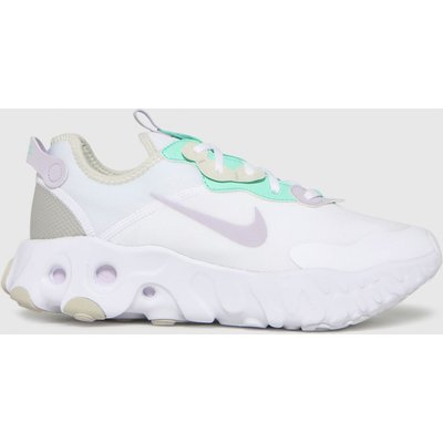 Nike White & Purple React Art3mis Trainers