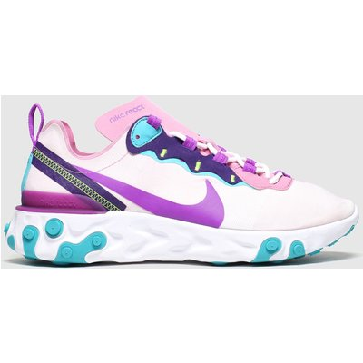 Nike Pale Pink React Element 55 Trainers