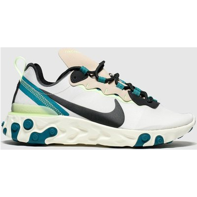 Nike Light Grey React Element 55 Trainers
