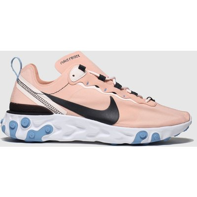 Nike Pink & Black React Element 55 Trainers