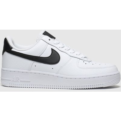 Nike White & Black Air Force 1 07 Trainers