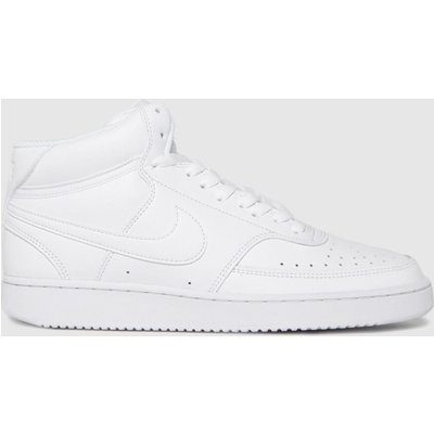 Nike White Court Vision Mid Trainers
