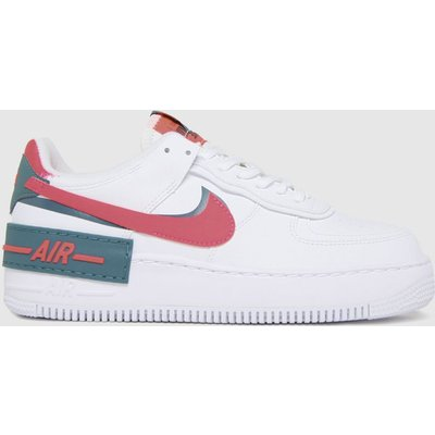 Nike White Air Force 1 Shadow Trainers