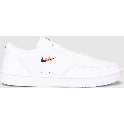 Nike White & Orange Court Vintage Premium Trainers