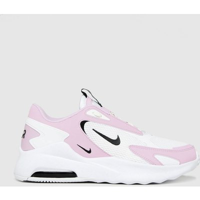 Nike White & Pink Air Max Bolt Trainers
